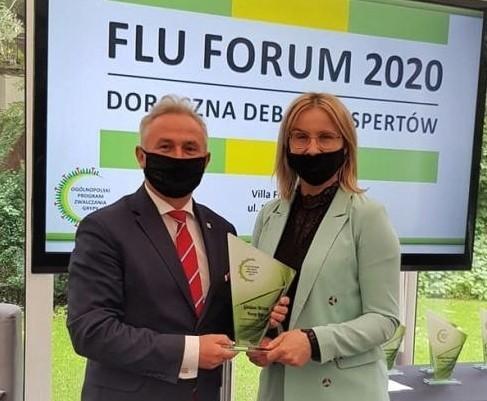 W tym roku Brzeg był jednym z 17 samorządów nagrodzonych za walkę z grypą.