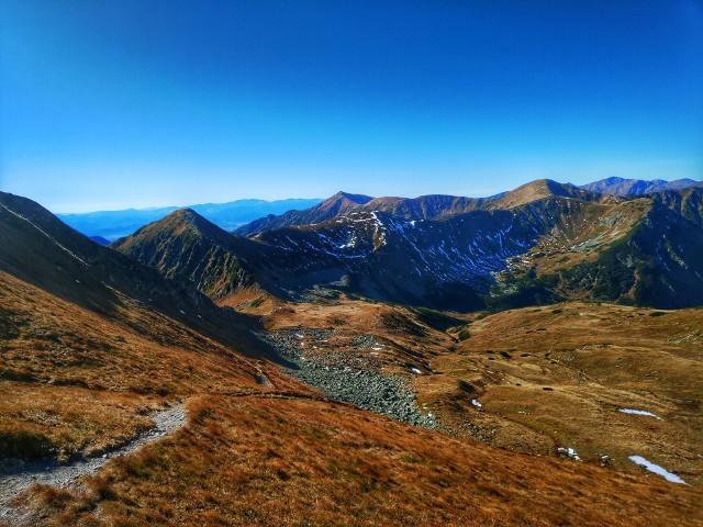 - Początki jesieni w Tatrach już są widoczne, choć do jej pełni jeszcze trochę czasu. Taki pierwszy znak nadciągającej jesieni widać już z Zakopanego. Czerwone Wierchy powoli robią się już czerwone, rude. Odpowiada za to roślina sit skucina, która przebarwia się na tej swój charakterystyczny brązowy kolor - mówi Marcin Strączek Helios, leśniczy z Tatrzańskiego Parku Narodowego.