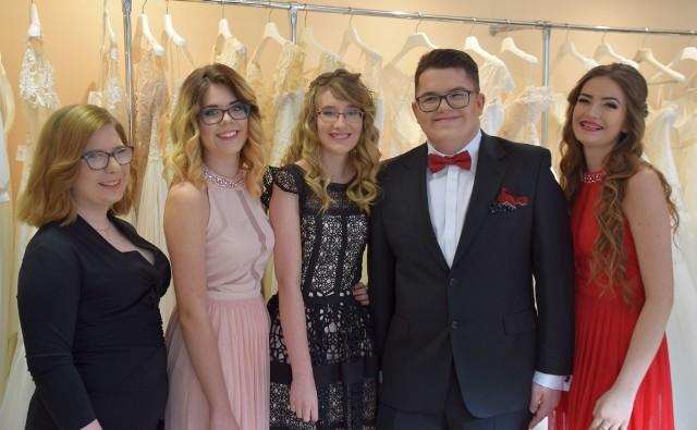 Od lewej: Beata Szmurło, Natalia Suhak, Hubert Jankowski, Ania Klimowicz Natalia Sekmistrzwyglądali w środę wyjątkowo
