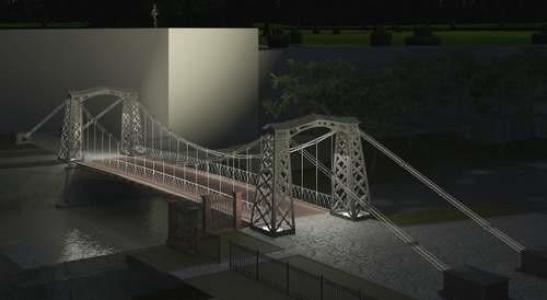Most, najcenniejszy zabytek Ozimka, zostanie rozebrany, odnowiony i ponownie złożony i oświetlony. (Drogmad/Planes-Architektura Marek Wala/UGiM Ozime)