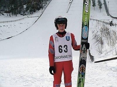 Dawid Jarząbek podwójny złoty medalista w mistrzostwach UKS-ów w kategorii juniorów E Fot. Zdzisław Karaś