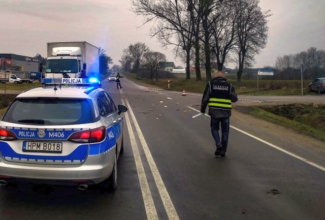 Śmiertelny wypadek na skrzyżowaniu Głowackiego z Mazurską