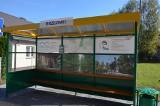 Kolejne prace przy wiatach przystankowych w gminie Masłów