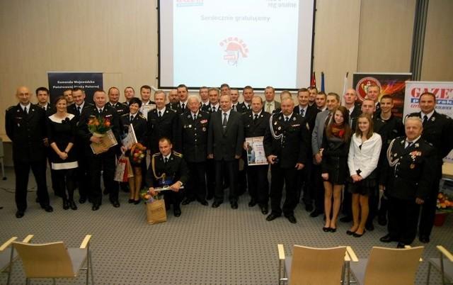 Laureaci plebiscytu Strażak i Jednostka Roku 2012 - Urząd Marszałkowski, Toruń.