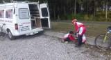 To jest Łódź. Dzięki urzędnikom. Młodzi kolarze muszą się myć na... parkingach!