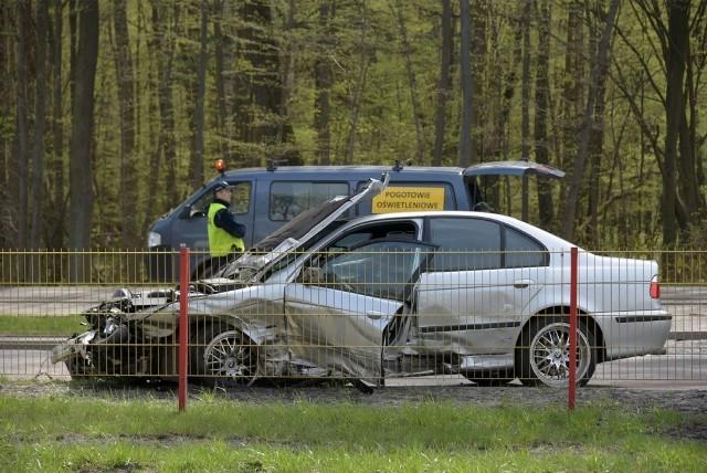 Ul. Zwierzyniecka: Wypadek BMW