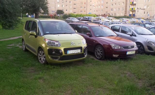 Parkowanie na trawniku to częsty widok w naszych miastach.