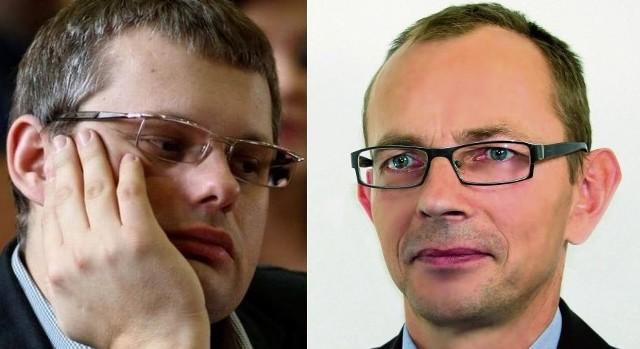 Piotr Jankowski, radny PiS i Zbigniew Nikitorowicz, radny PO