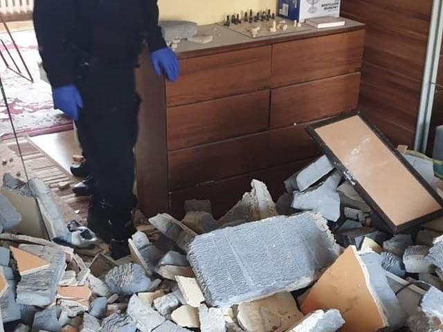 Wybuch gazu w jednym z bloków w Koninie uszkodził ścianę między mieszkaniami