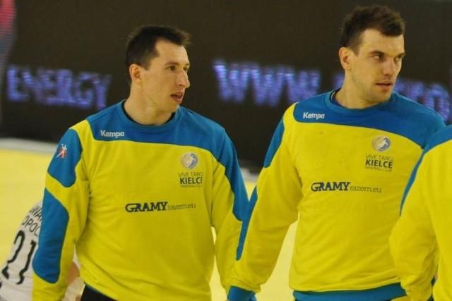 Bramkarz Sławomir Szmal (z lewej) i lewy rozgrywający Michał Jurecki to dwaj kluczowi zawodnicy naszej reprezentacji.