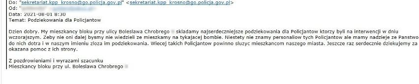 Policjanci z Krosna Odrzańskiego otrzymali podziękowania od...