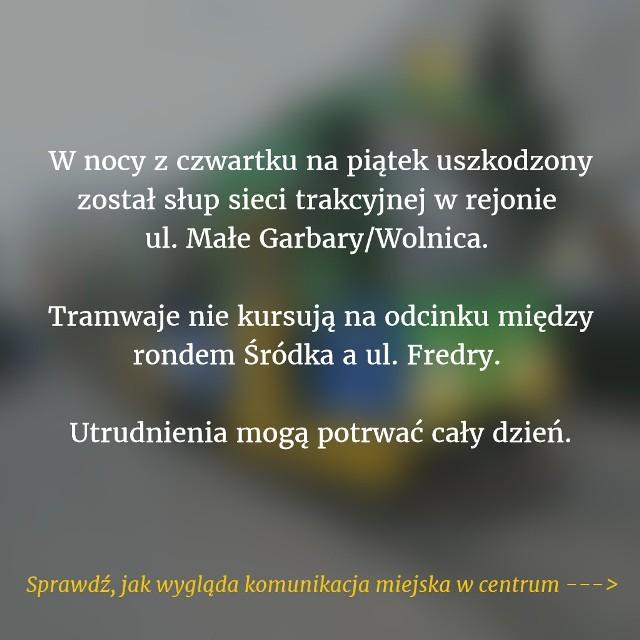 W nocy z 4 na 5 maja w centrum Poznania uszkodzony został słup sieci trakcyjnej. Cztery linie tramwajowe jeżdżą objazdem, uruchomiono też zastępczą komunikację autobusową.Przejdź do kolejnego slajdu --->