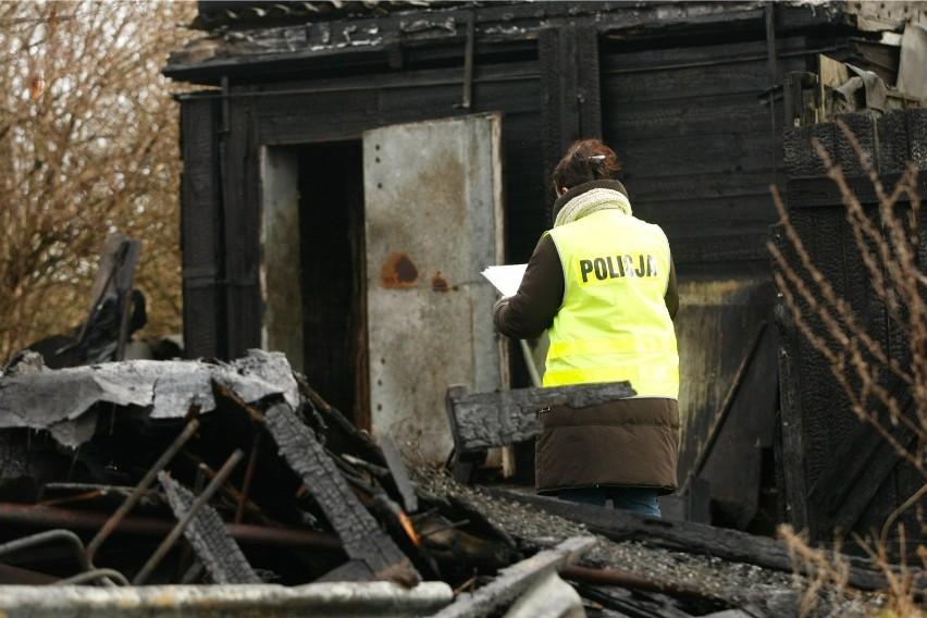 Pożar wybuchł w altance na działce rekreacyjnej.