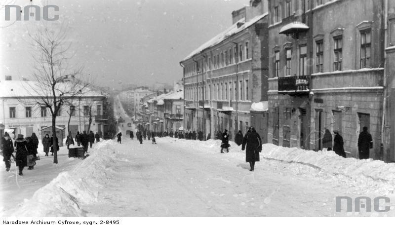 Ulica Lubartowska w czasie okupacji