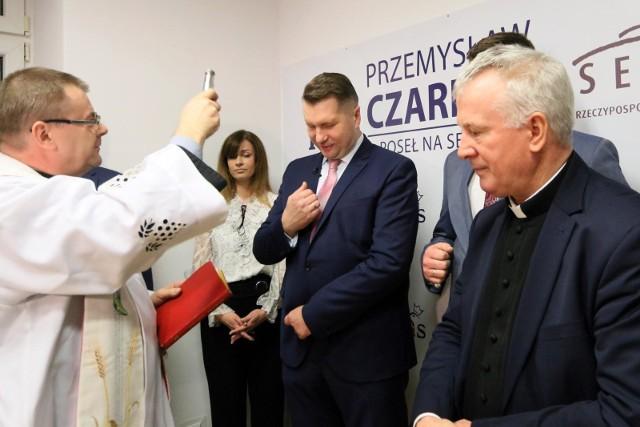Grudzień 2019 r. Otwarcie biura poselskiego Przemysława czarnka w Lublinie.