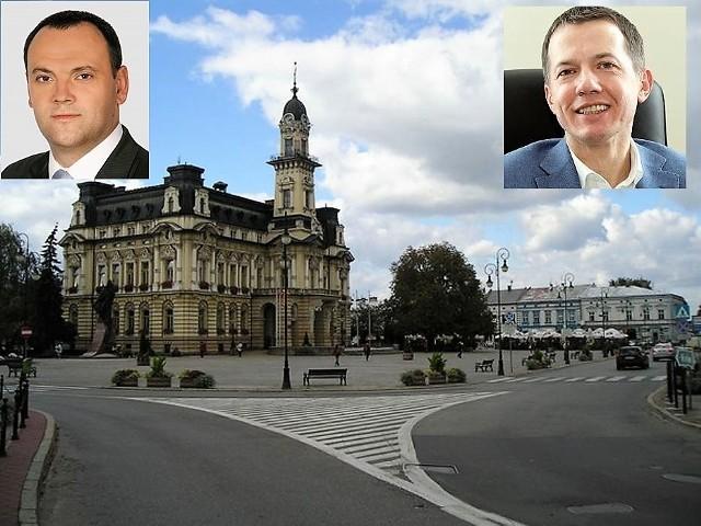 Jacek Żelasko z Koalicji Nowosądeckiej (z lewej) uważa, że zlecenie dla szwagra wiceprezydenta Wojciecha Piecha (z prawej) to nepotyzm
