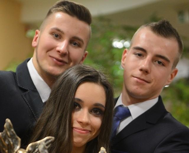 Na zdjęciu Tymoteusz Marciniak, Natalia Suśniło i Wojciech Malajka - najlepsza trójka z ubiegłego roku