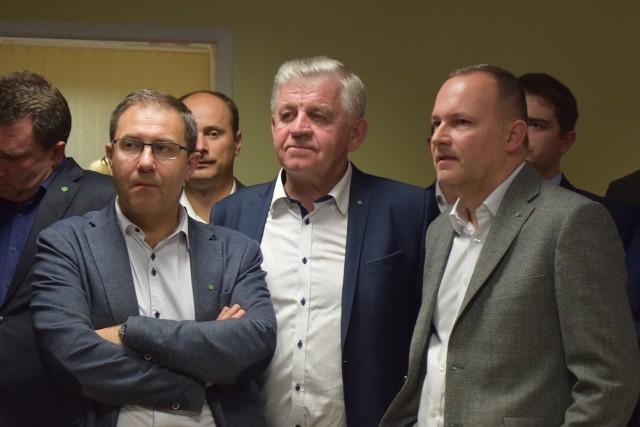 Andrzej Maj, starosta kraśnicki, Sławomir Sosnowski, marszałek województwa i europoseł Krzysztof Hetman