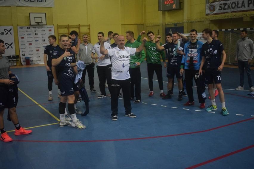 Tak szczypiorniści Grunwaldu Poznań cieszyli się z wygranej w derbowym spotkaniu z Ostrovią
