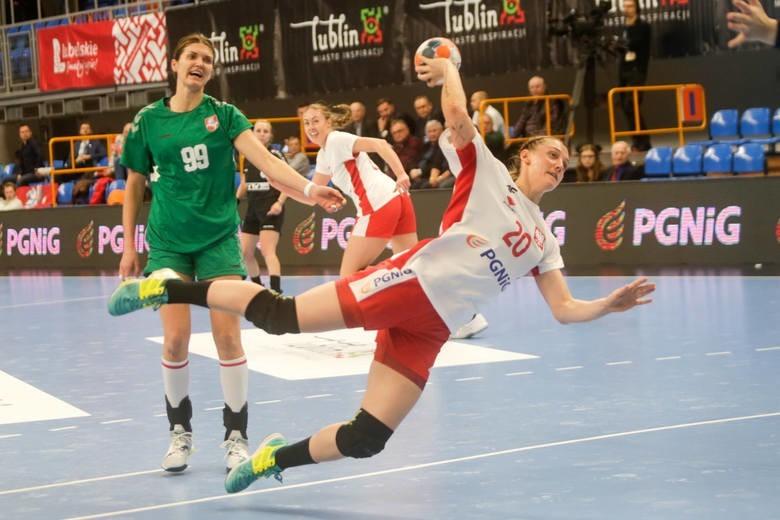 Reprezentacja Polski w starciu z Litwinkami podczas turnieju 450-lecia Unii Lubelskiej, który odbył się w hali Globus