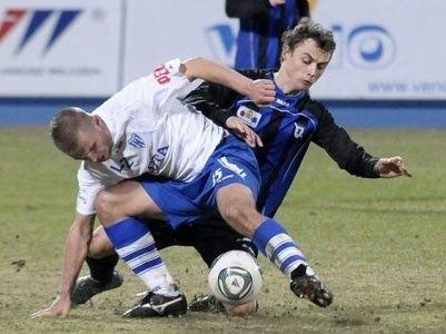 Michał Masłowski strzelił drugiego gola dla Zawiszy. Bydgoski zespół następie stracił dwie bramki i mecz zakończył się remisem.