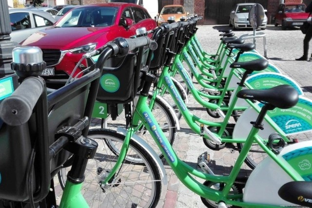 Rowery miejskie w Bielsku-Białej - w sezonie 2021 w 24 stacjach czekają 192 jednoślady