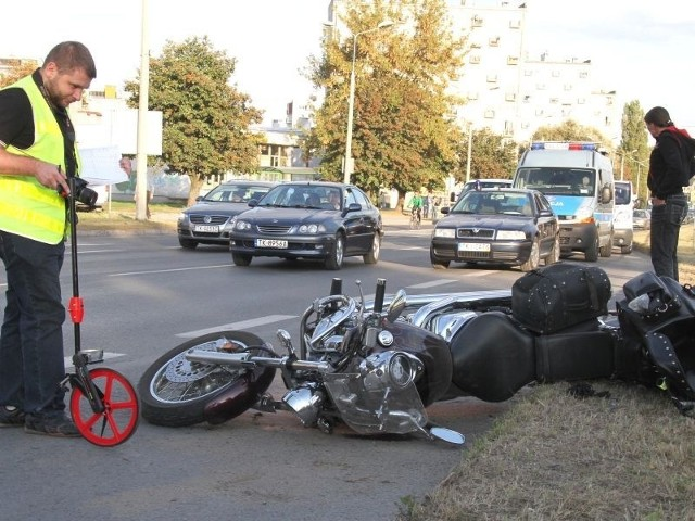 Po wypadku na ulicy Grunwaldzkiej w Kielcach.