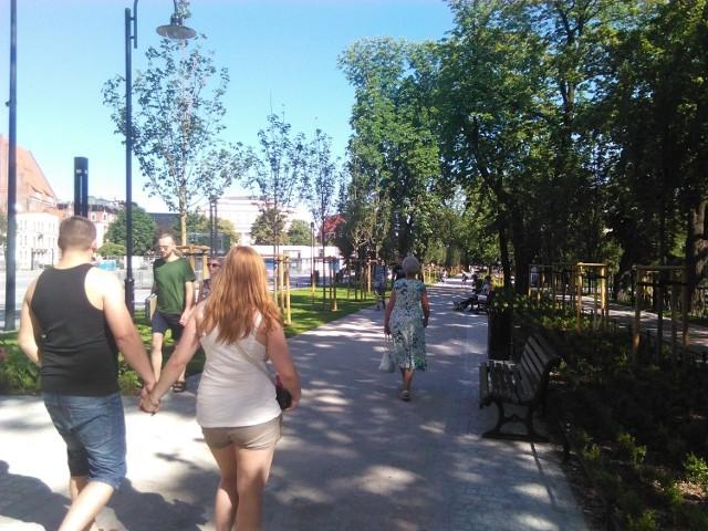 Choć oficjalne otwarcie promenady w piątek, już dziś można tam spacerować