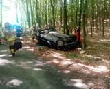 Tragiczny wypadek na drodze niedaleko Gościna. Nie żyje 27-letni mężczyzna [ZDJĘCIA]