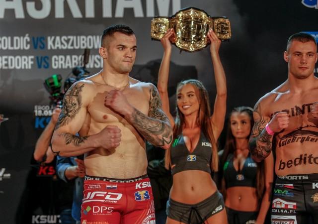 Roberto Soldić w sobotę będzie bronił tytułu mistrza KSW