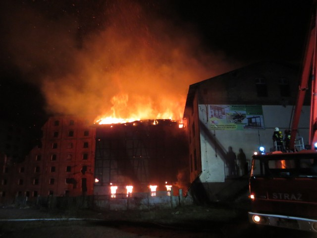 Pożar zabytkowych młynów w Starogardzie Gdańskim