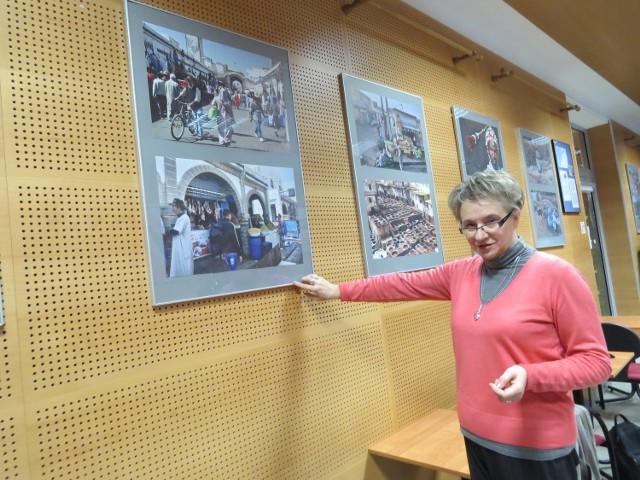 """- Staramy się promować prace amatorów, ale prezentujemy też sztukę profesjonalistów - mówi dyrektor Mariola Różańska. - Przykładem jest ta wystawa """"oko na Maroko"""" Zbigniewa Przybysza z Torunia"""