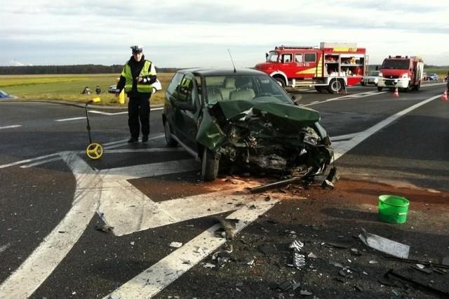 Do wypadku doszło we Wrzoskach na ul. Wrocławskiej.