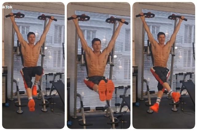 Robert Lewandowski pokazał, jak ćwiczy w domu. MASZYNA!