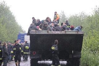 Akcja ratunkowa w gminie Szczurowa