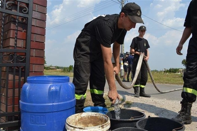 W Koniecpolu pomogli strażacy