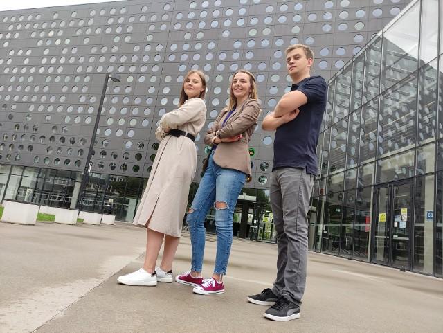 Projekt przygotował zespół w składzie: Agnieszka Małyszko (z lewej), Anna Janda i Adam Mielniczek