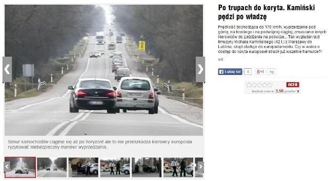 Michał Kamiński w drodze do Lublina