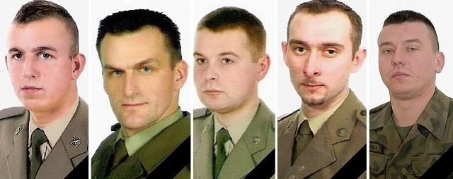 szer. Krystian Banach, st. kpr. Piotr Ciesielski, st. szer. Łukasz Krawiec, st. szer. Marcin Szczurowski i st. szer. Marek Tomala.