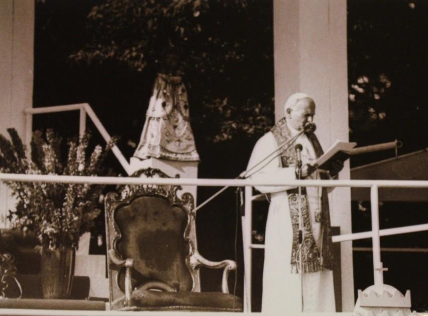 Papież Jan Paweł II na Górze św. Anny.