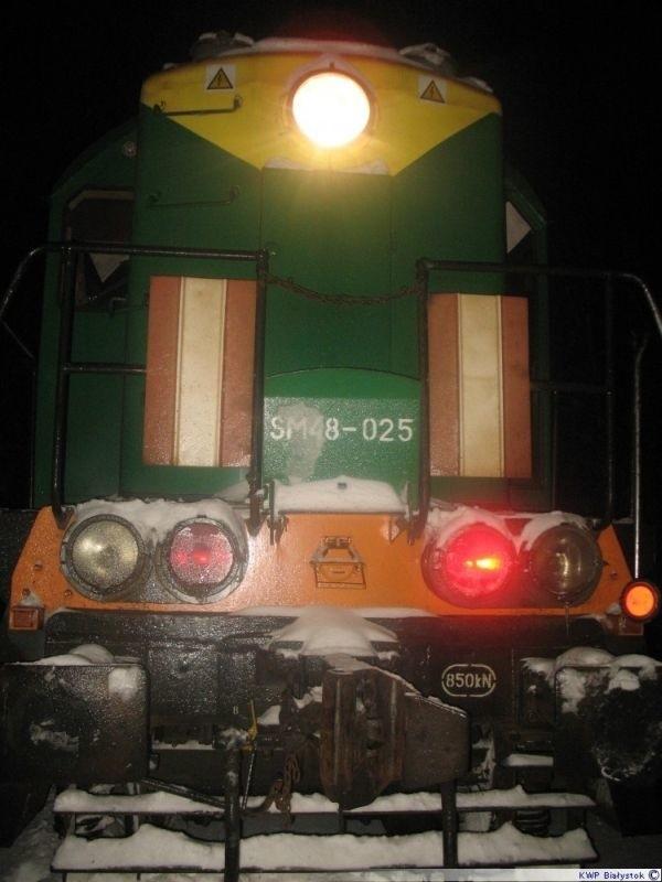 - 100 tonowej lokomotywie nic oczywiście się nie stało, jednak samca żubra nie udało się uratować.