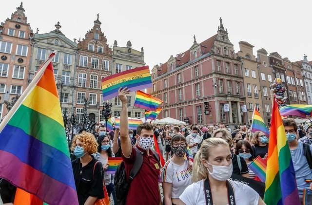 Gdański wiec środowisk LGBT #jestemlgbt 20.08.2020