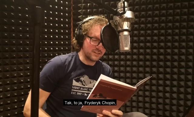 """Bartłomiej Łochnicki czyta książkę Aleksandry Zgorzelskiej """"Nazywam się Fryderyk Chopin"""""""