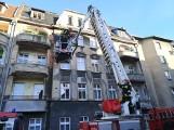 Pożar w Grudziądzu. Paliło się poddasze kamienicy przy ul. Kościuszki [zdjęcia]
