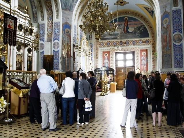 W sobotę zainteresowani mogli zobaczyć wnętrze cerkwi św. Mikołaja przy ul. Lipowej w Białymstoku. Zwiedzający nie tylko słuchali opowieści przewodników, ale także sami zadawali im szczegółowe pytania.