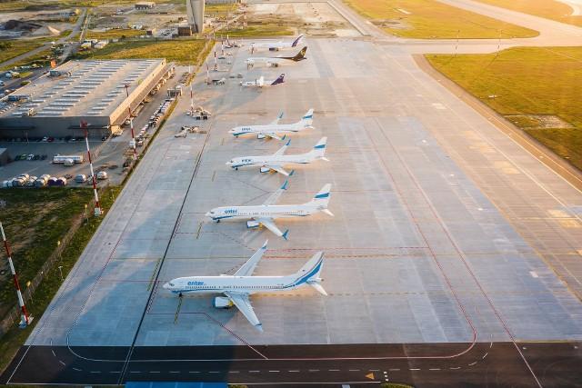 Lotnisko w Pyrzowicach latem 2020. Czartery zawsze były tu mocne.Zobacz kolejne zdjęcia. Przesuwaj zdjęcia w prawo - naciśnij strzałkę lub przycisk NASTĘPNE
