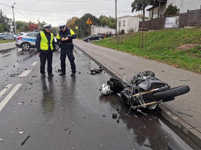 Kierowca motocykla zmarł