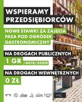 Ogródki gastronomiczne w całej Łodzi z obniżoną opłatą za plac