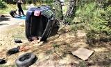W Radzyniu w gminie Sława auto wypadło z drogi. Rannego kierowcę zabrał do szpitala śmigłowiec Lotniczego Pogotowia Ratunkowego