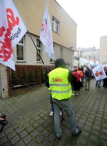 Protest pielęgniarek pod siedzibą spółki Nowy Szpital
